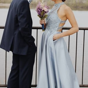 PromGirl A-Line Prom Dress (cinderella blue)